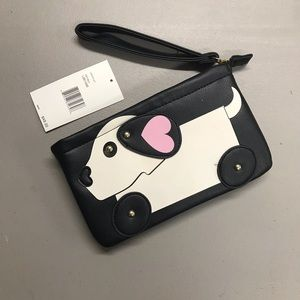 Betsey Johnson Puppy Dog Wristlet Wallet Purse